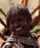 Lachende hamer vrouw. Foto: Maurice van Steen