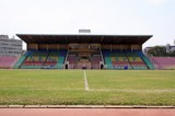 Hoofdtribune van het National Stadium in Addis Abeba. Foto: Maurice van Steen