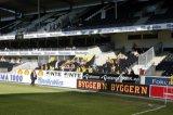 NAC Breda supporters in het stadion van Rosenborg. Foto: Maurice van Steen
