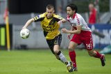 (L-R) Danny Verbeek of NAC Breda, Mark van der Maarel of FC Utrecht