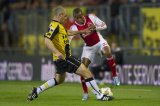 (L-R) Anthony Lurling of NAC Breda, Ruben Ligeon of Ajax