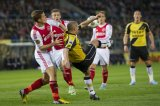(L-R) Niklas Moisander of Ajax, Toby Alderweireld of Ajax, Anthony Lurling of NAC Breda, Siem de Jong of Ajax, Nemanja Gudelj of NAC Breda