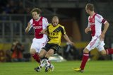 (L-R) Daley Blind of Ajax, Anthony Lurling of NAC Breda, Siem de Jong of Ajax