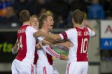 (L-R) Niklas Moisander of Ajax, Christian Eriksen of Ajax, Viktor Fischer of Ajax, Siem de Jong of Ajax