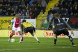 (L-R) Ryan Babel of Ajax, Eric Botteghin of NAC Breda, goalkeeper Jose Antonio Gomes Moreira of Andorra