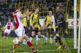 (L-R) Niklas Moisander of Ajax, Rick ten Voorde of NAC Breda, Kees Luijckx of NAC Breda, Anthony Lurling of NAC Breda, Ryan Babel of Ajax, goalkeeper Jelle ten Rouwelaar of NAC Breda