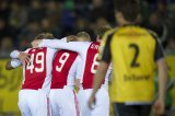 (L-R) Viktor Fischer of Ajax, Ryan Babel of Ajax, Kolbeinn Sigthorsson of Ajax, Christian Eriksen of Ajax, Sepp de Roover of NAC Breda
