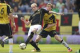 (L-R) Frank Demouge of Roda JC, Kees Luijckx of NAC Breda