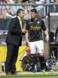 (L-R) coach Ruud Brood of Roda JC, Mark Jan Fledderus of Roda JC