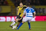 (L-R) Anthony Lurling of NAC Breda, Bram van Polen of PEC Zwolle