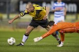 (L-R) Anthony Lurling of NAC Breda, goalkeeper Diederik Boer of PEC Zwolle