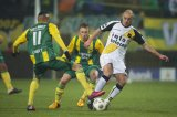(L-R) Tjaronn Chery of ADO Den Haag, Dico Koppers of ADO Den Haag, Anthony Lurling of NAC Breda