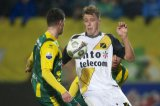(L-R) Danny Holla of ADO Den Haag, Rick ten Voorde of NAC Breda, Christian Supusepa of ADO Den Haag