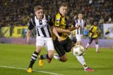 (L-R) Ben Rienstra of Heracles Almelo, Rick ten Voorde of NAC Breda