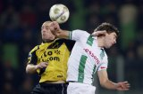 (L-R) Anthony Lurling of NAC Breda, Kees Kwakman of FC Groningen