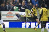 (L-R) Aurelien Joachim of Willem II, Eric Botteghin of NAC Breda