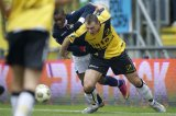 (L-R) Virgil Misidjan of Willem II, Kenny van der Weg of NAC Breda