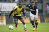 (L-R) Elson Hooi of NAC Breda, Jordens Peters of Willem II