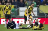(L-R) Kenny van der Weg of NAC Breda, Ricardo Ippel of Willem II, Nemanja Gudelj of NAC Breda, Eric Botteghin of NAC Breda