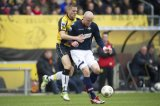 (L-R) Jens Janse of NAC Breda, Danny Guijt of Willem II
