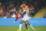 (L-R) Rydell Poepon of NAC Breda, Bart Vriends of Go Ahead Eagles