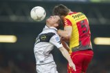 (L-R) Gilles Swerts of NAC Breda, Xandro Schenk of Go Ahead Eagles