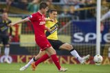 (L-R) Torgeir Borven of FC Twente, Uros Matic of NAC Breda