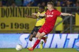 (L-R)  Jeffrey Sarpong of NAC Breda, Torgeir Borven of FC Twente