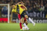(L-R) Uros Matic of NAC Breda, Youness Mokthar of FC Twente