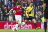 (L-R) Ji-Sung Park of PSV, Adnane Tighadouini of NAC Breda