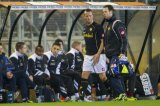 (L-R) Anjo Jansen of Roda JC, physiotherapist Bart Curfs of Roda JC
