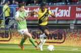 (L-R) Daryl Janmaat of Feyenoord,  Jeffrey Sarpong of NAC Breda