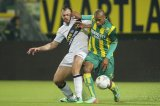 (L-R) Kenny van der Weg of NAC Breda, Gianni Zuiverloon of ADO den Haag