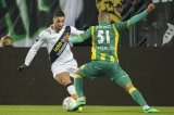 (L-R) Adnane Tighadouini of NAC Breda, Gianni Zuiverloon of ADO den Haag,